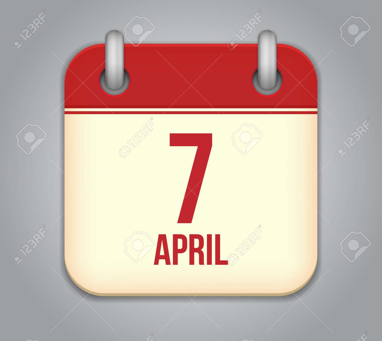 calendar app icon Stock Vector - 19050351