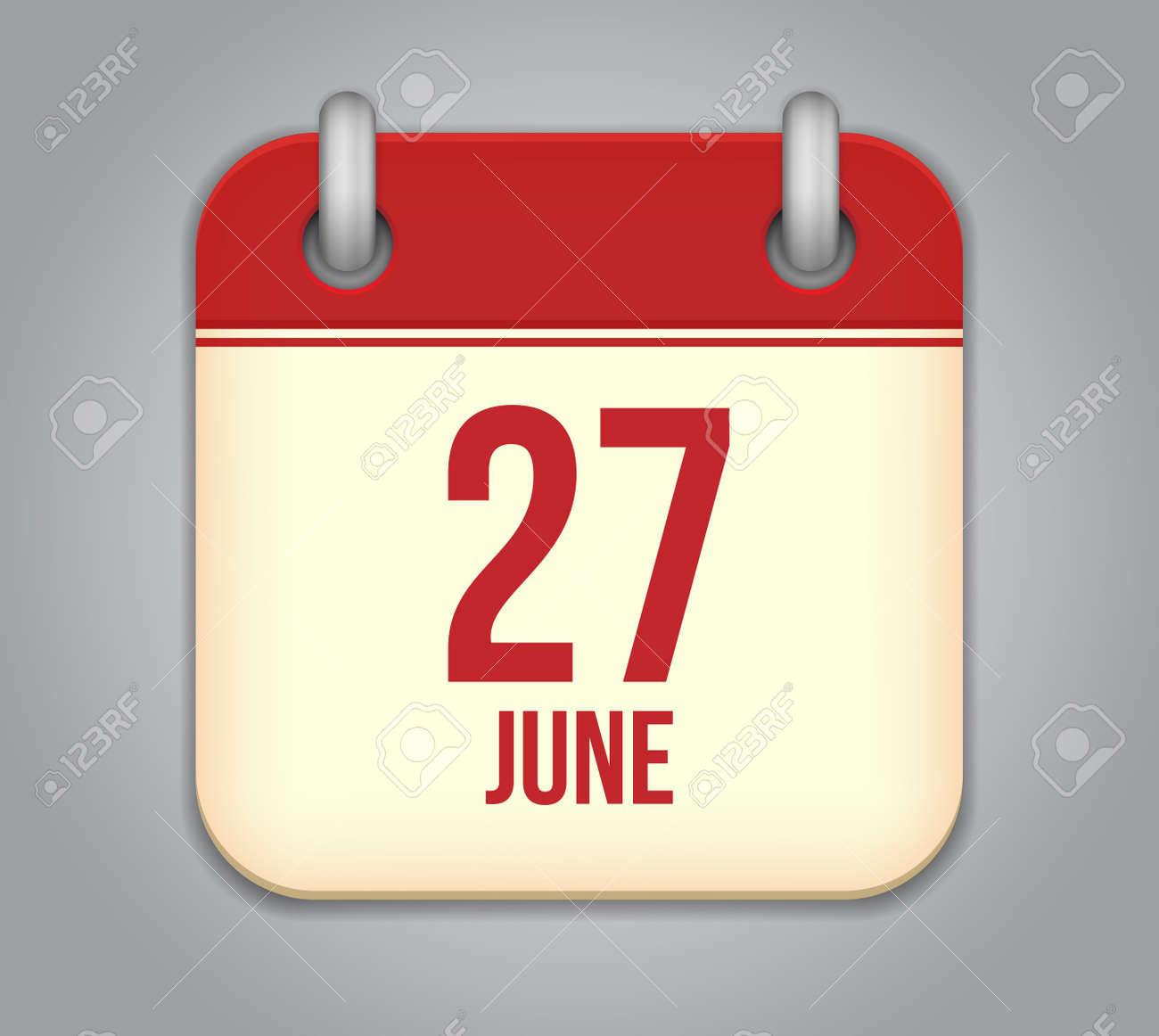 Vector calendar app icon Stock Vector - 19352174