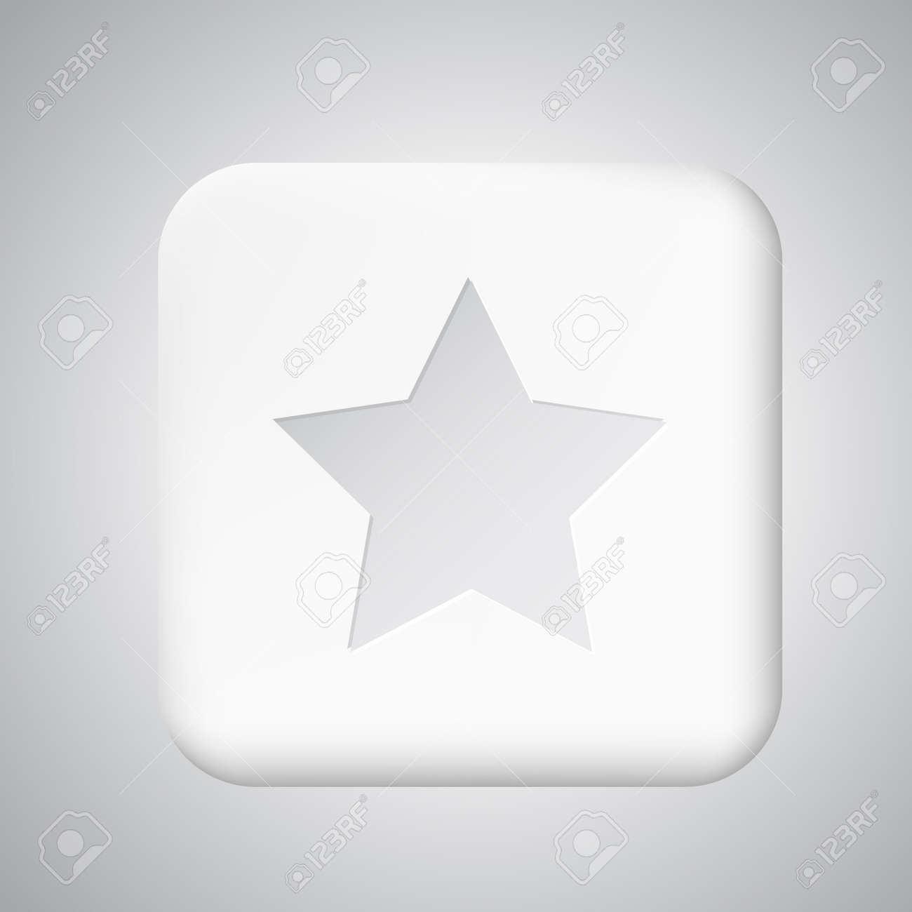 White plastic share button for app Stock Vector - 20724428