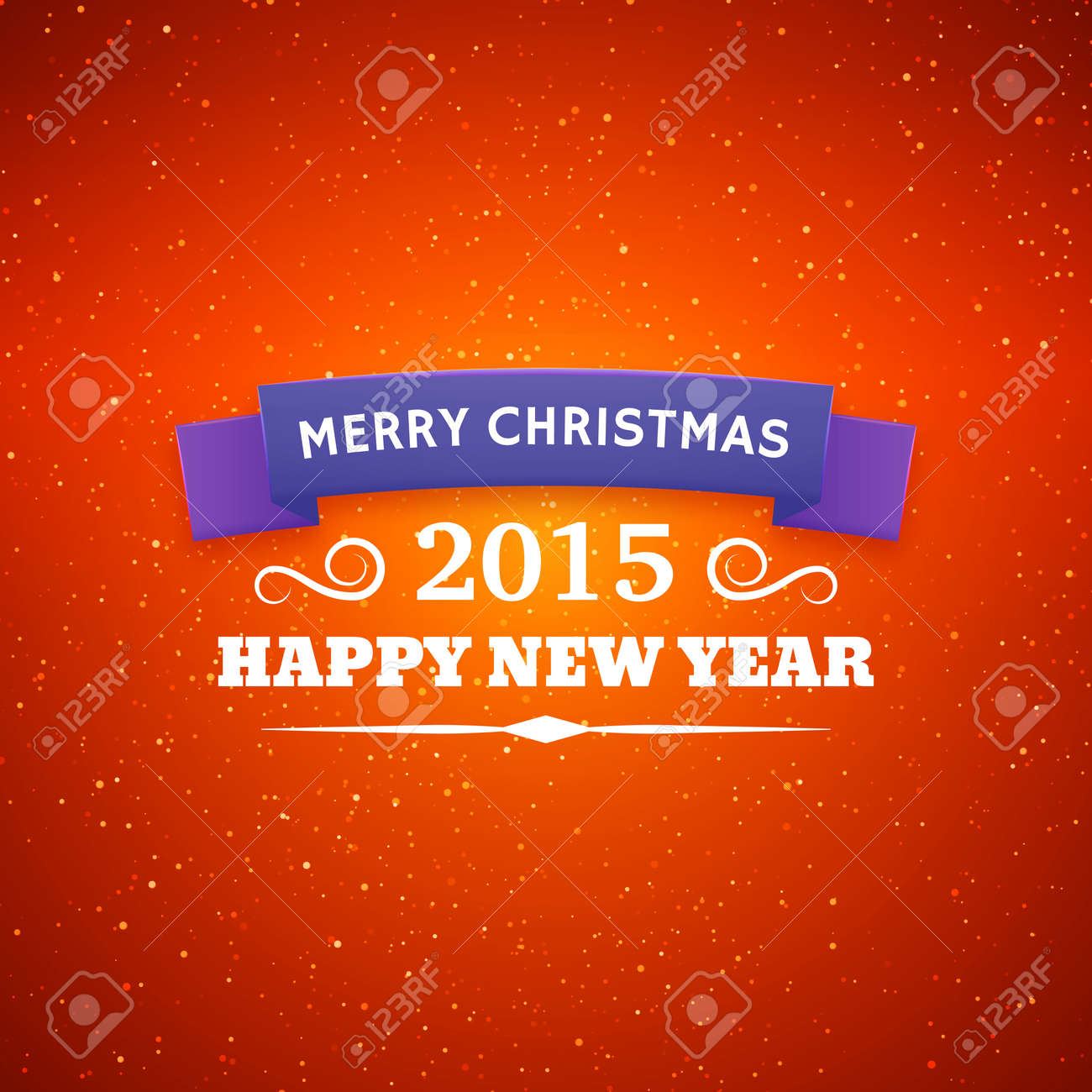 Merry Christmas Typography Styled Vector Background Greeting