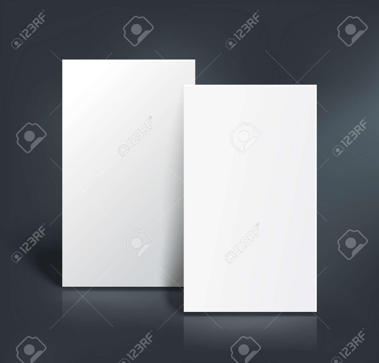 Pile De Deux Pages Blanches Livret Carte Visite Postale Ou Modele