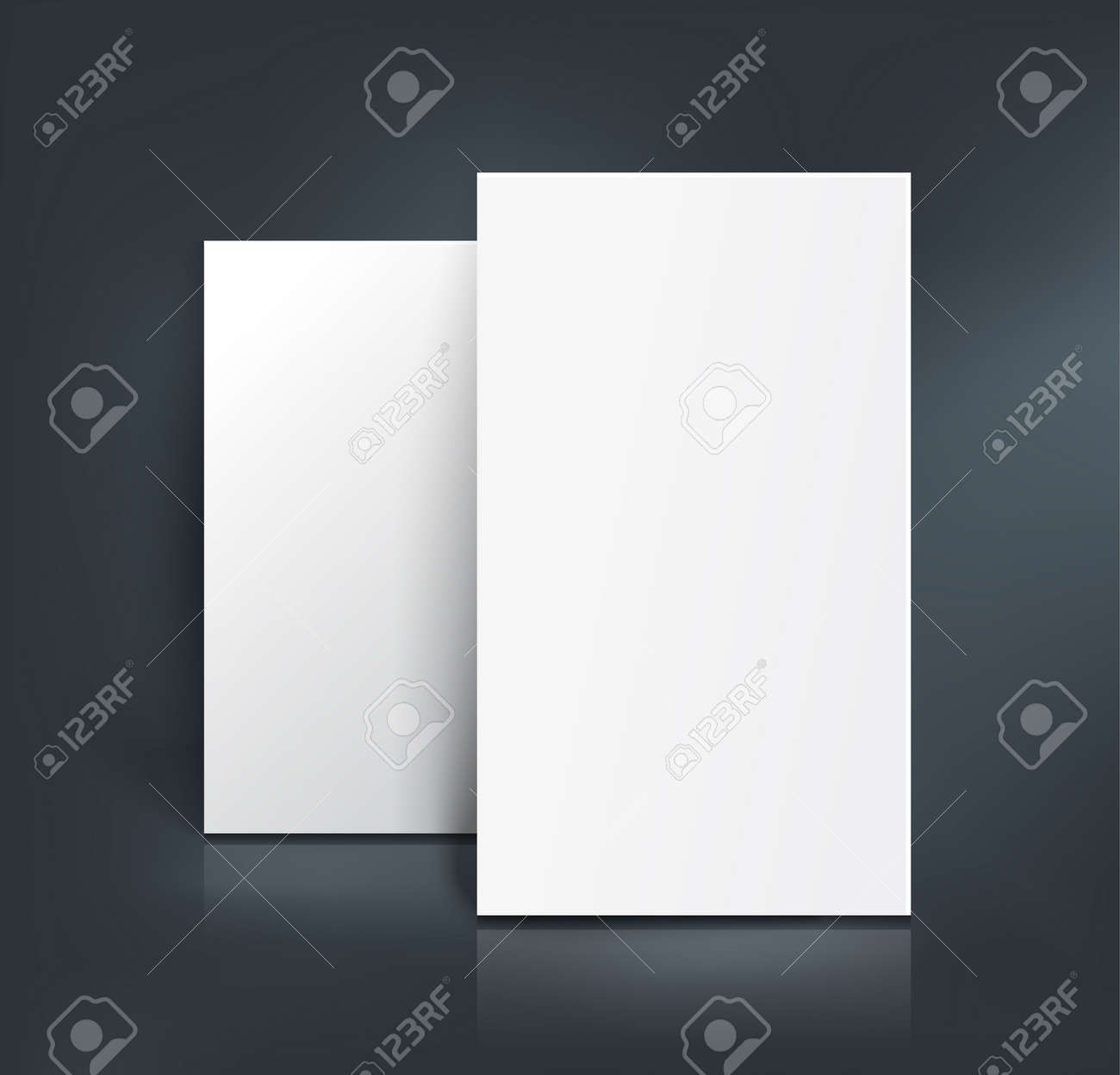 Stack Of Two White Paper Sheets Booklet Page Business Card – Free White Paper Template
