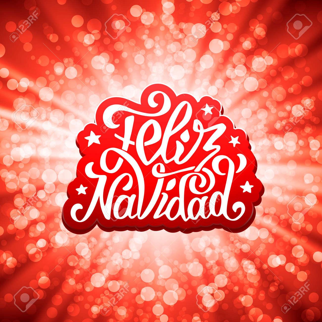Feliz Navidad Lettering For Invitation Prints And Greeting Cards