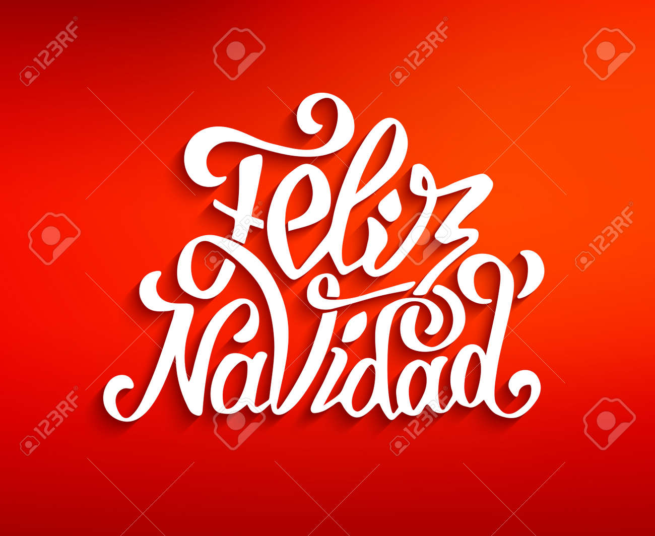 Feliz Navidad Lettering For Invitation Prints And Greeting Cards
