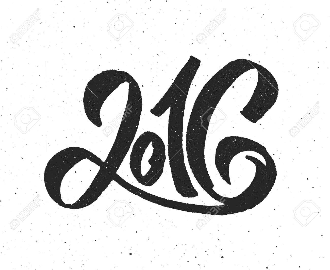 2016 New Year Handmade Greeting Card Design Chinese Calligraphy