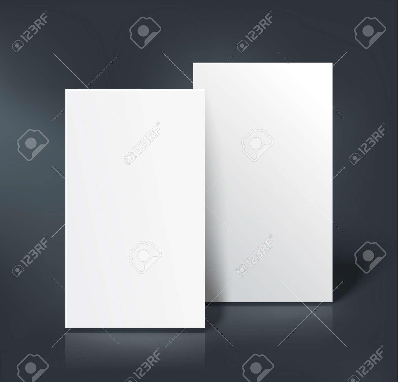 Pile De Deux Pages Blanches Livret Carte Visite Postale