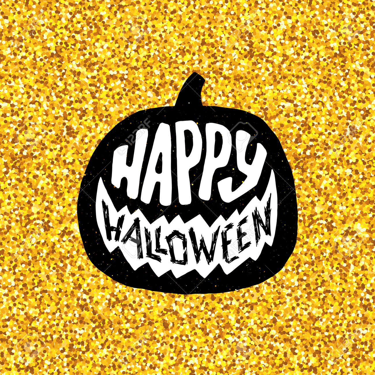 Happy Halloween Greeting Card Design. Festive Banner For 31 October Night  Party With Lettering On