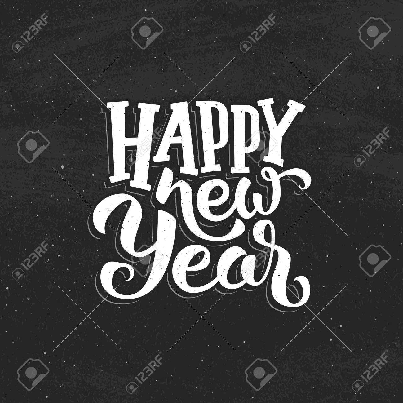 Happy New Year Lettering Design 21