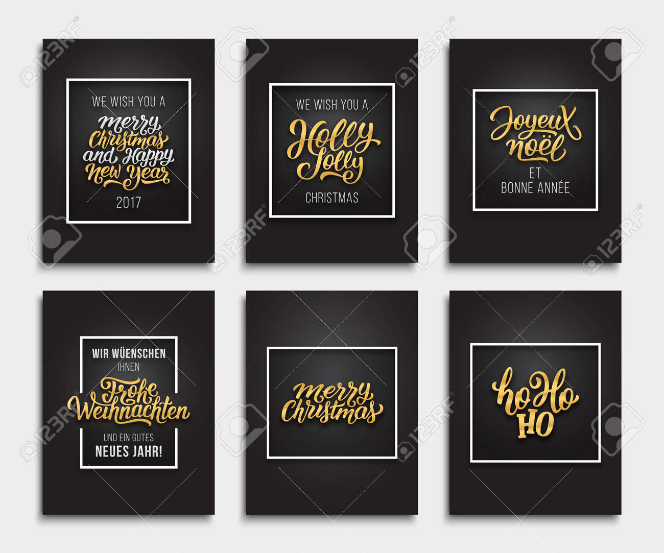 Merry christmas and happy new year 2017 vector luxury xmas greeting merry christmas and happy new year 2017 vector luxury xmas greeting cards design with golden kristyandbryce Gallery