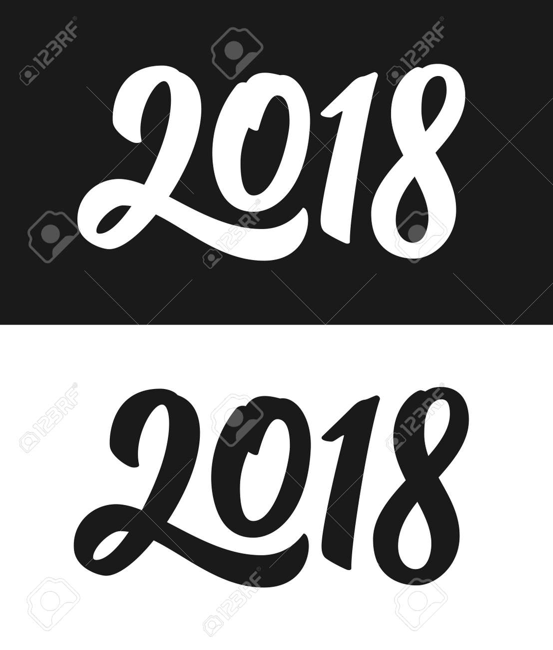 2018 number template