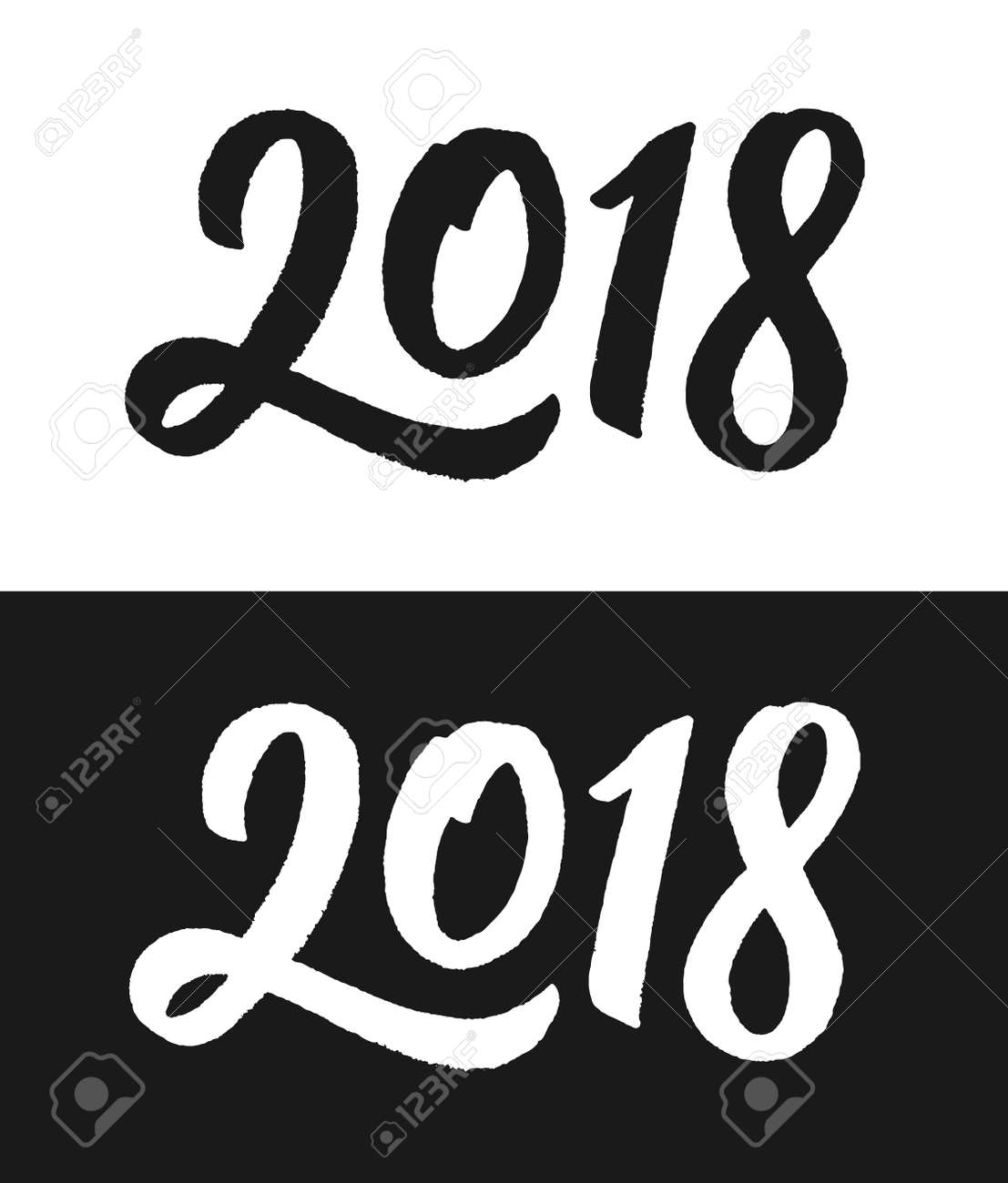 2018 number template happy new year