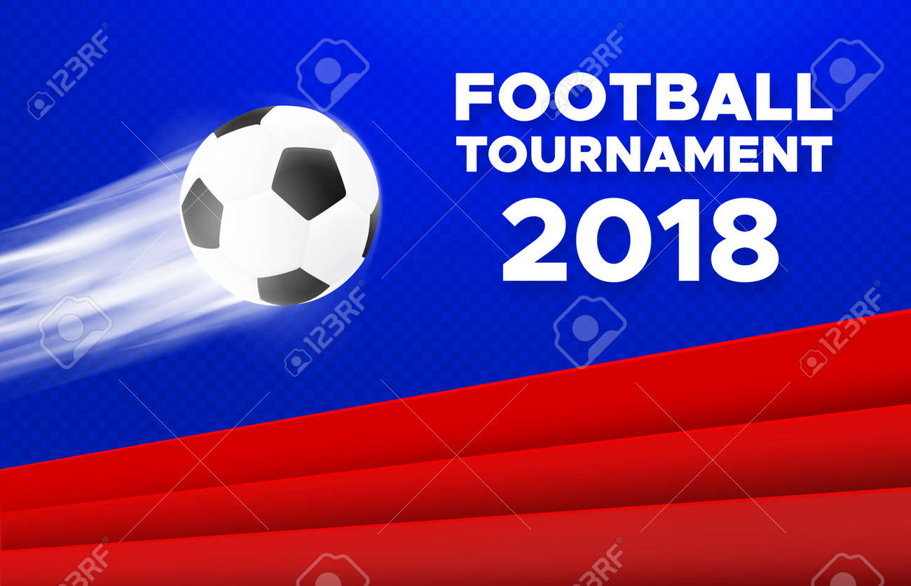 football sport poster design vector background with soccer ball