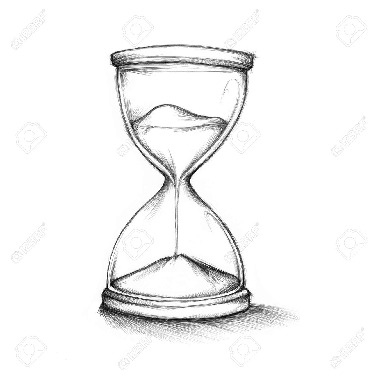 illustration of an hourglass with sand stock photo picture and Hourglass Art illustration illustration of an hourglass with sand