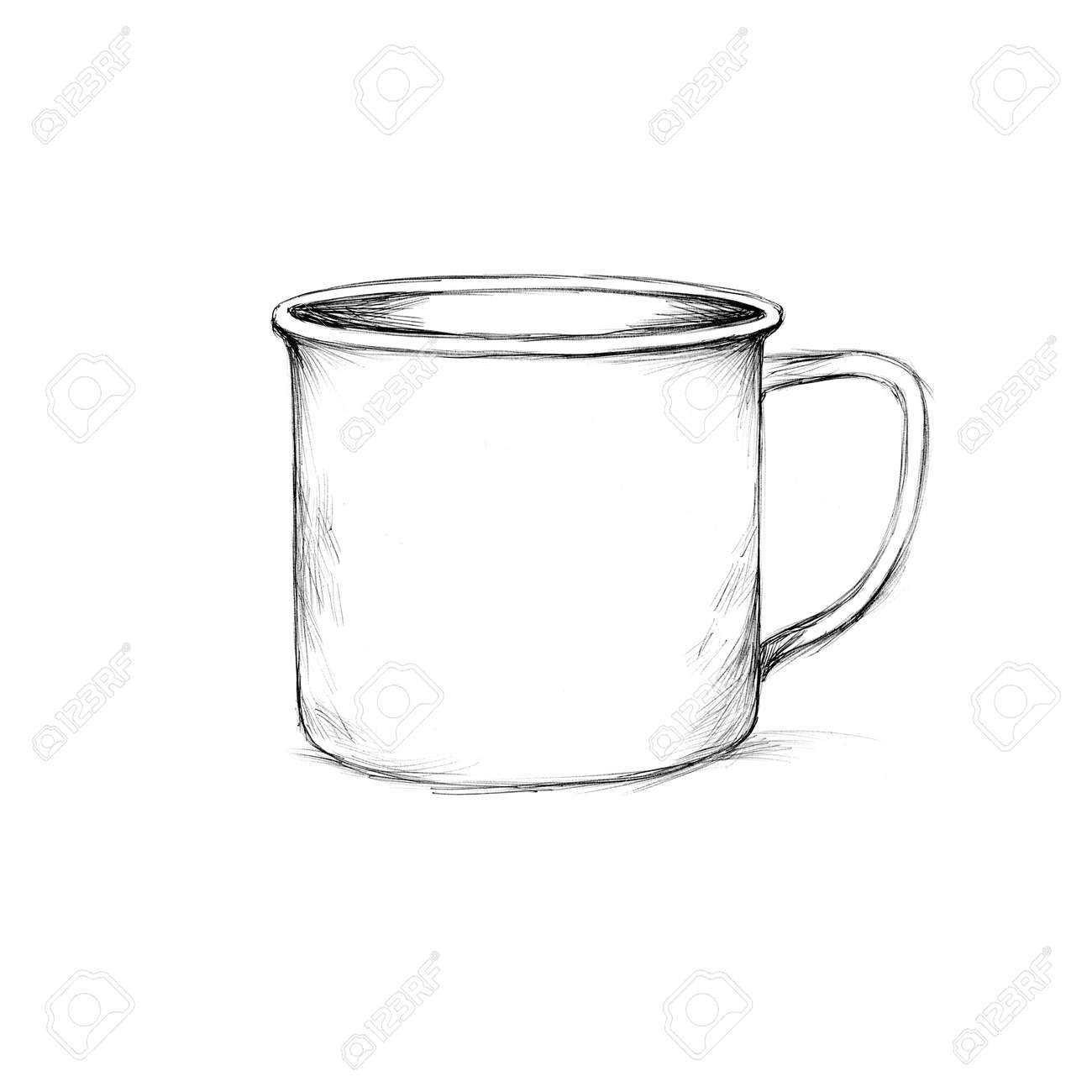 Illustration Of A Simple Enamel Mug Stock Photo Picture And Royalty Free Image Image 138721493
