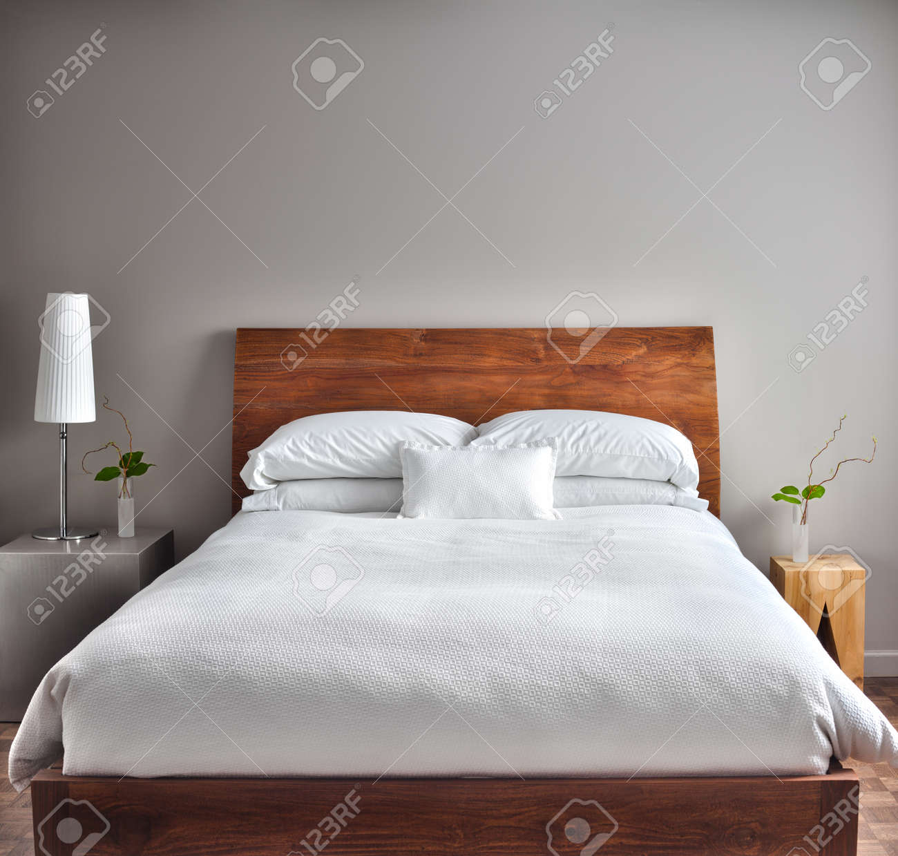 beautiful clean and modern bedroom with empty wall stock photo 26492588 beautiful clean and modern - How To Clean Bedroom Walls