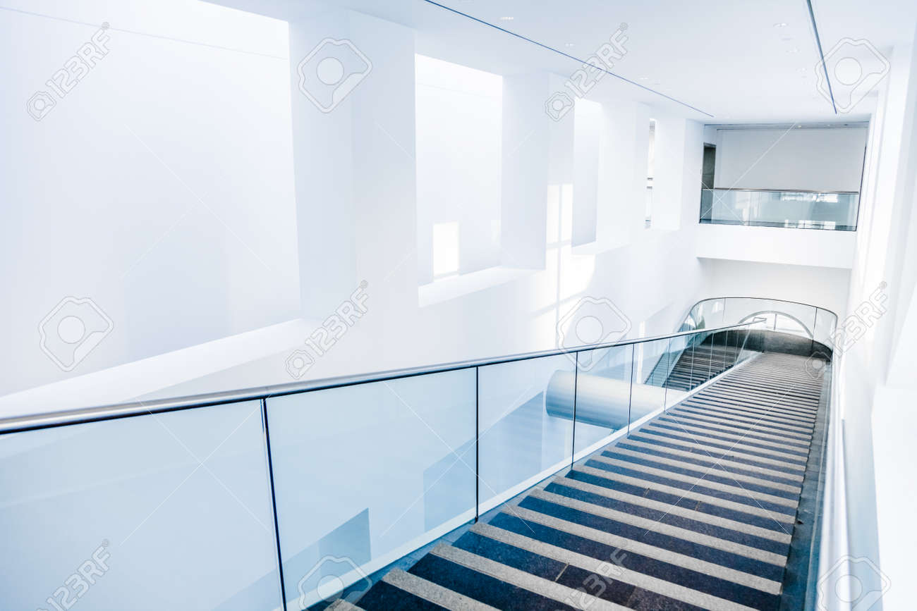 Editorial - Montreal, Kanada. Fine Arts Museum Moderne Treppen Set ...