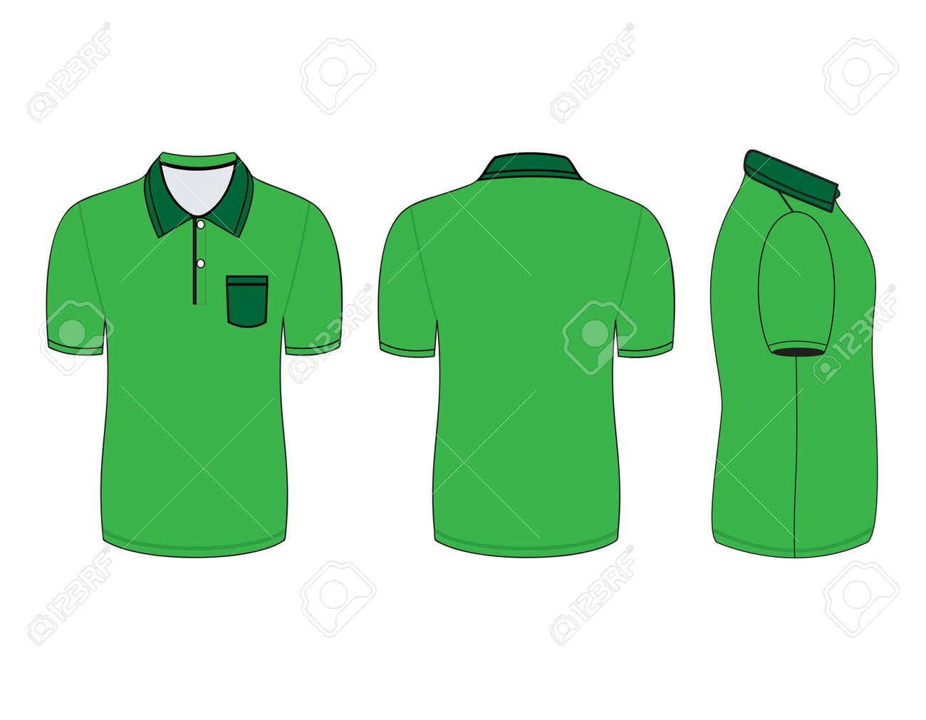 Polo shirt design vector - Polo Shirt Design Templates Front Back And Side Views Vector Illustration Stock