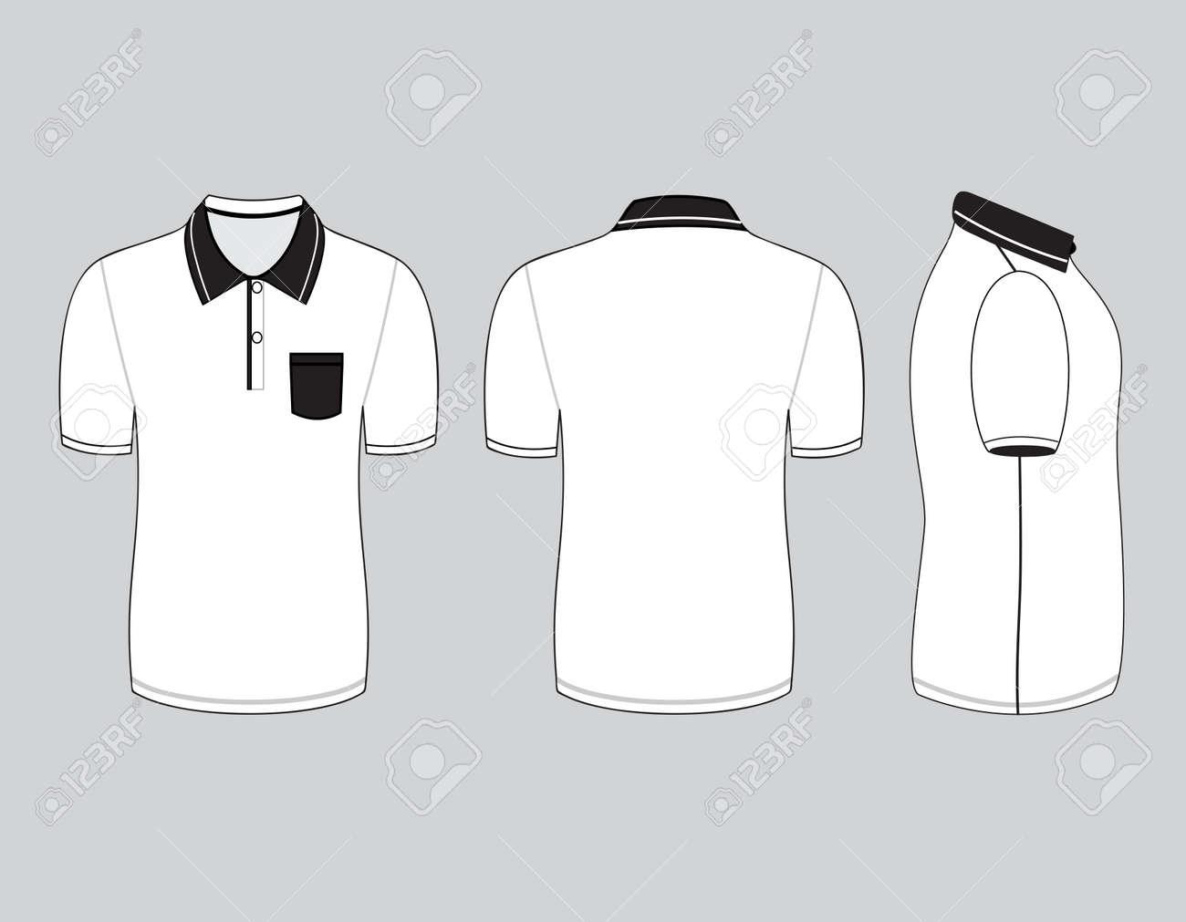 white polo shirt side