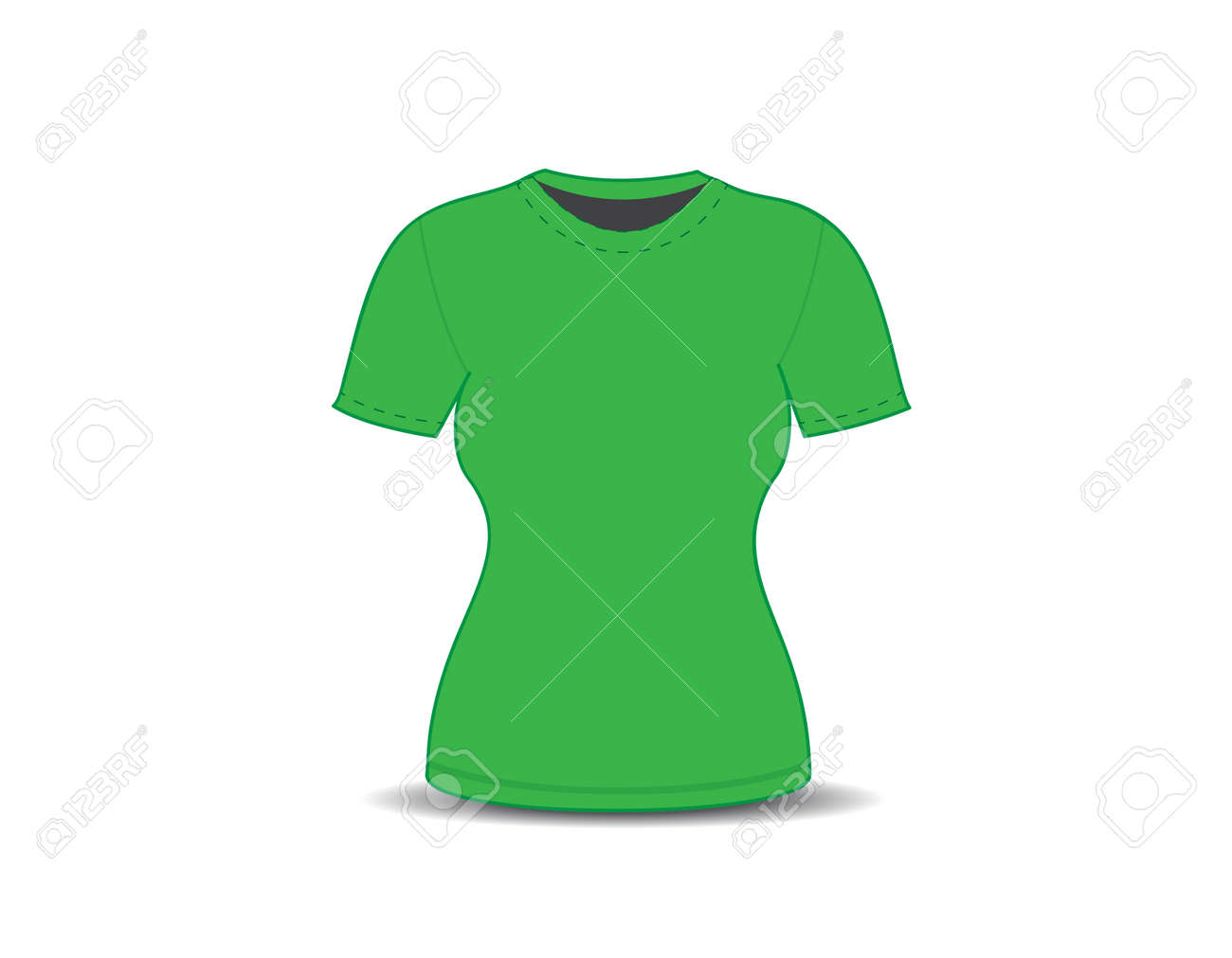 Blank T Shirt Template Vector Illustration Stock