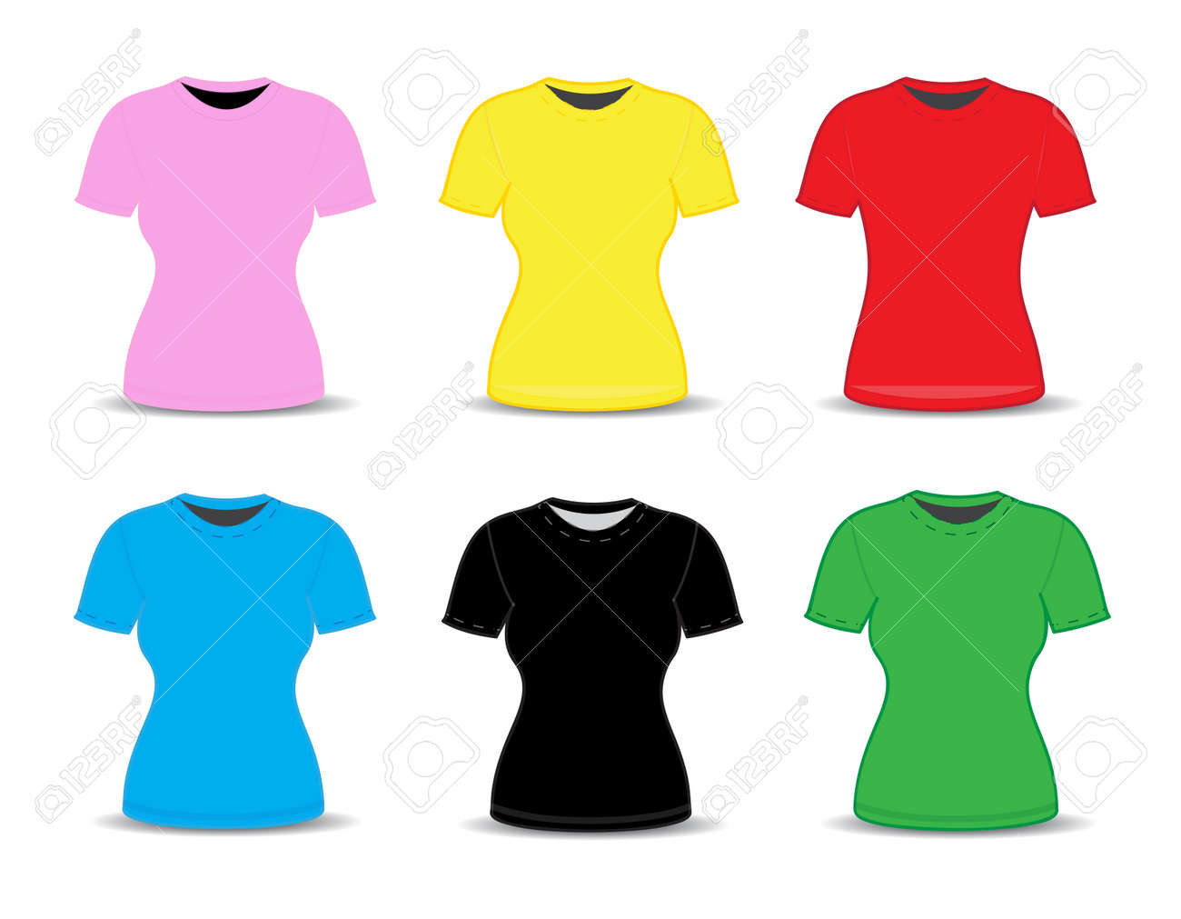 blank t shirt template vector illustration royalty free cliparts