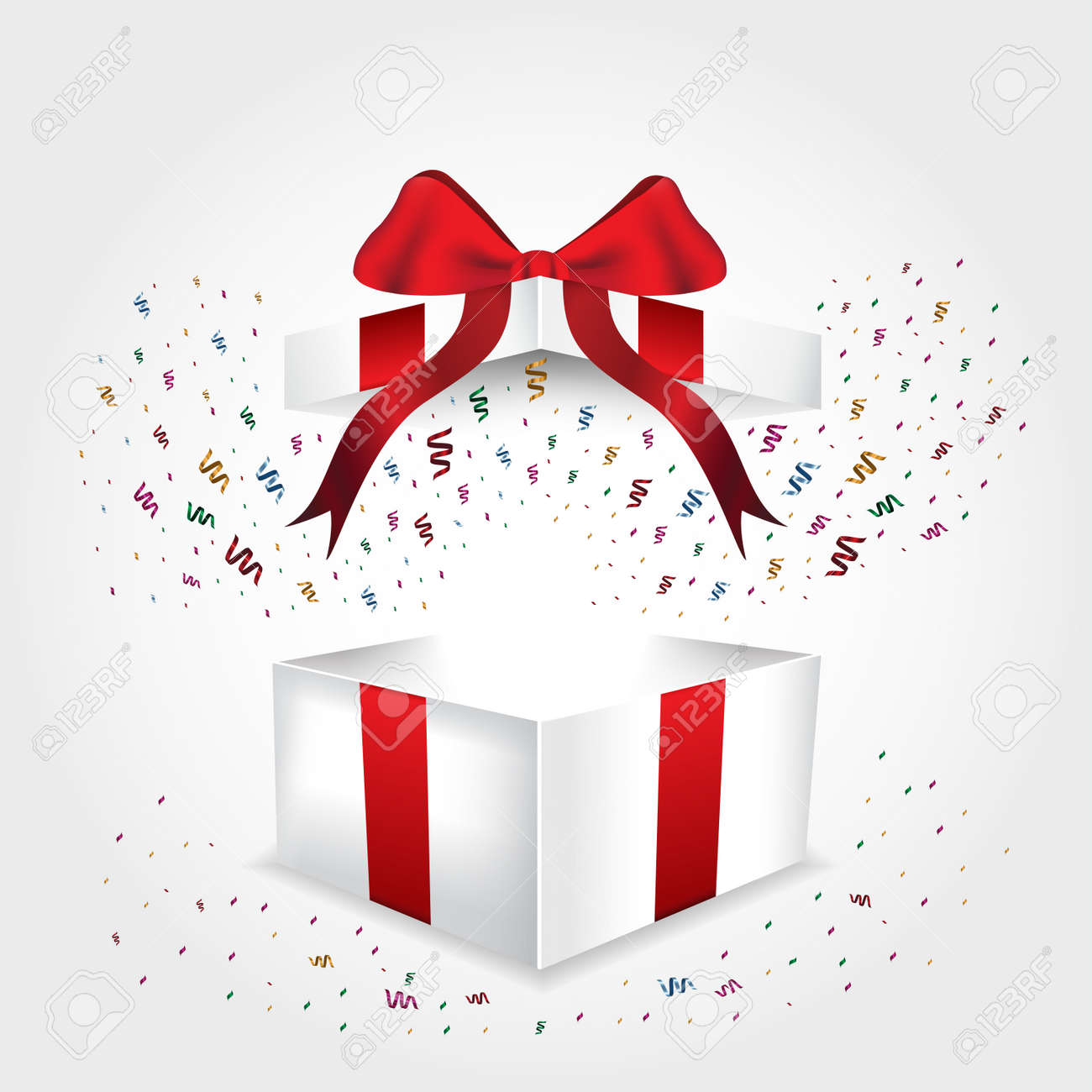 Open Gift Box With Red Ribbon Royalty Free Cliparts Vectors And Stock Illustration Image 49241859