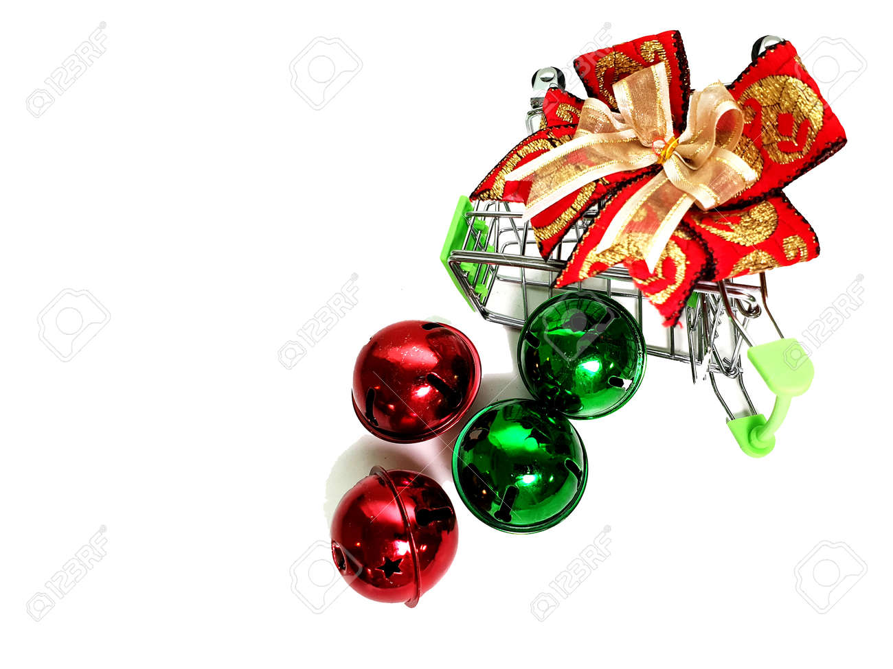 Merry Christmas Gift And Happy New Year Isolated On White Background ...