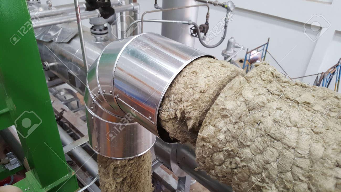 Steam pipe insulation for power plant steam turbine