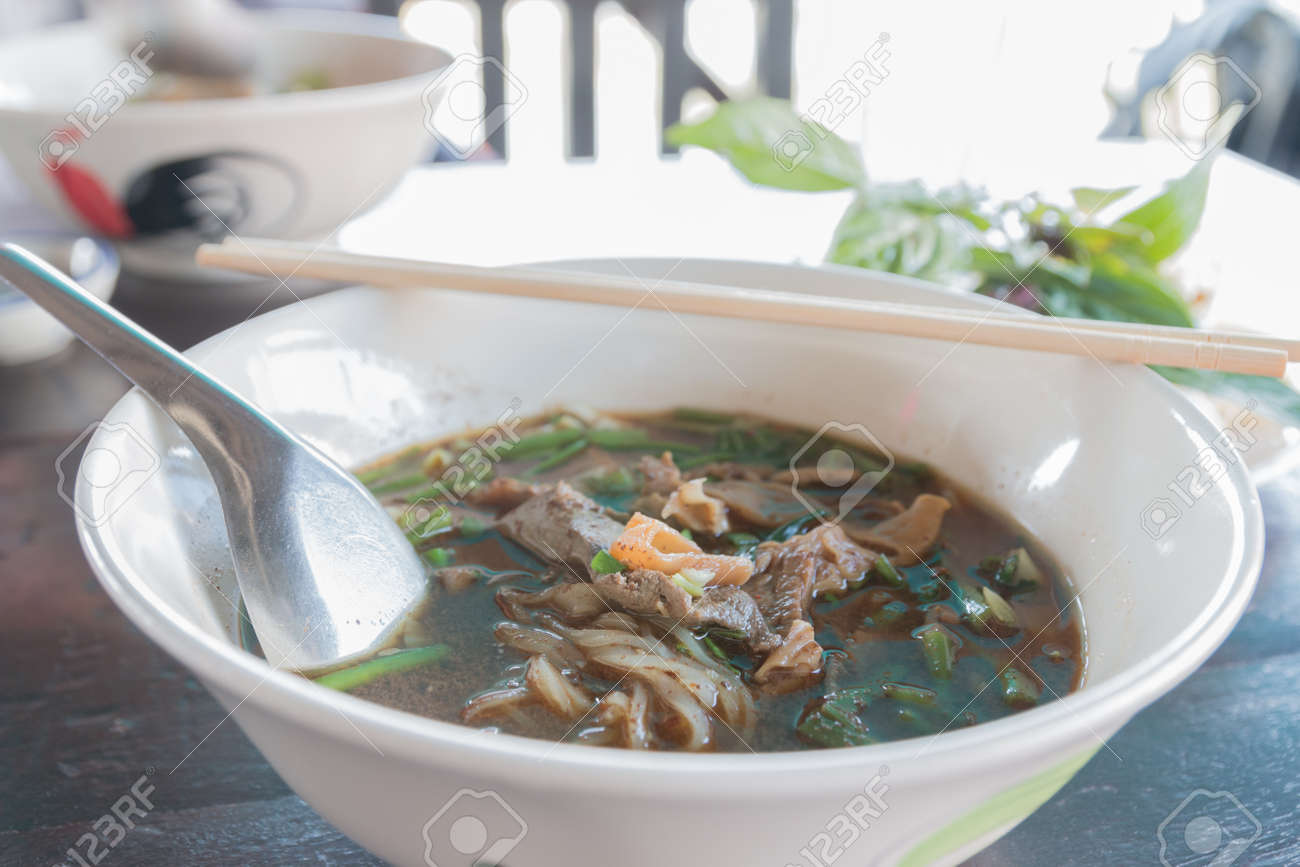 Boat Noodle , Moo nam tok of thailand - 25773576