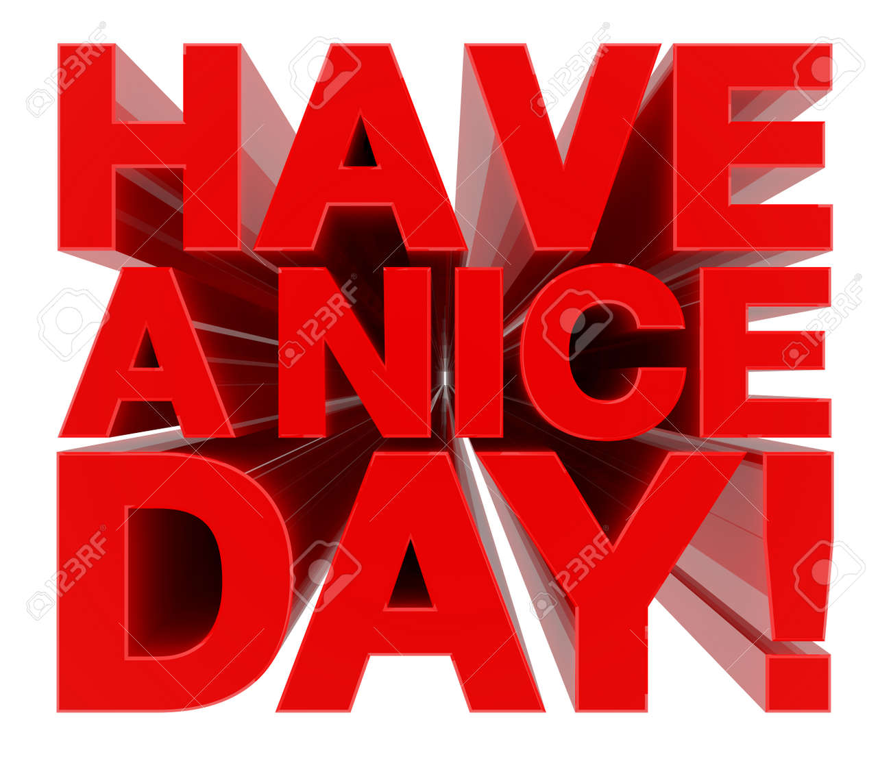 HAVE A NICE DAY ! word on white background 3d rendering - 131014998