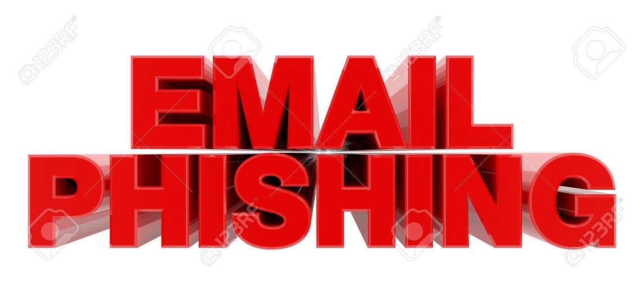 EMAIL PHISHING red word on white background illustration 3D rendering - 137876568