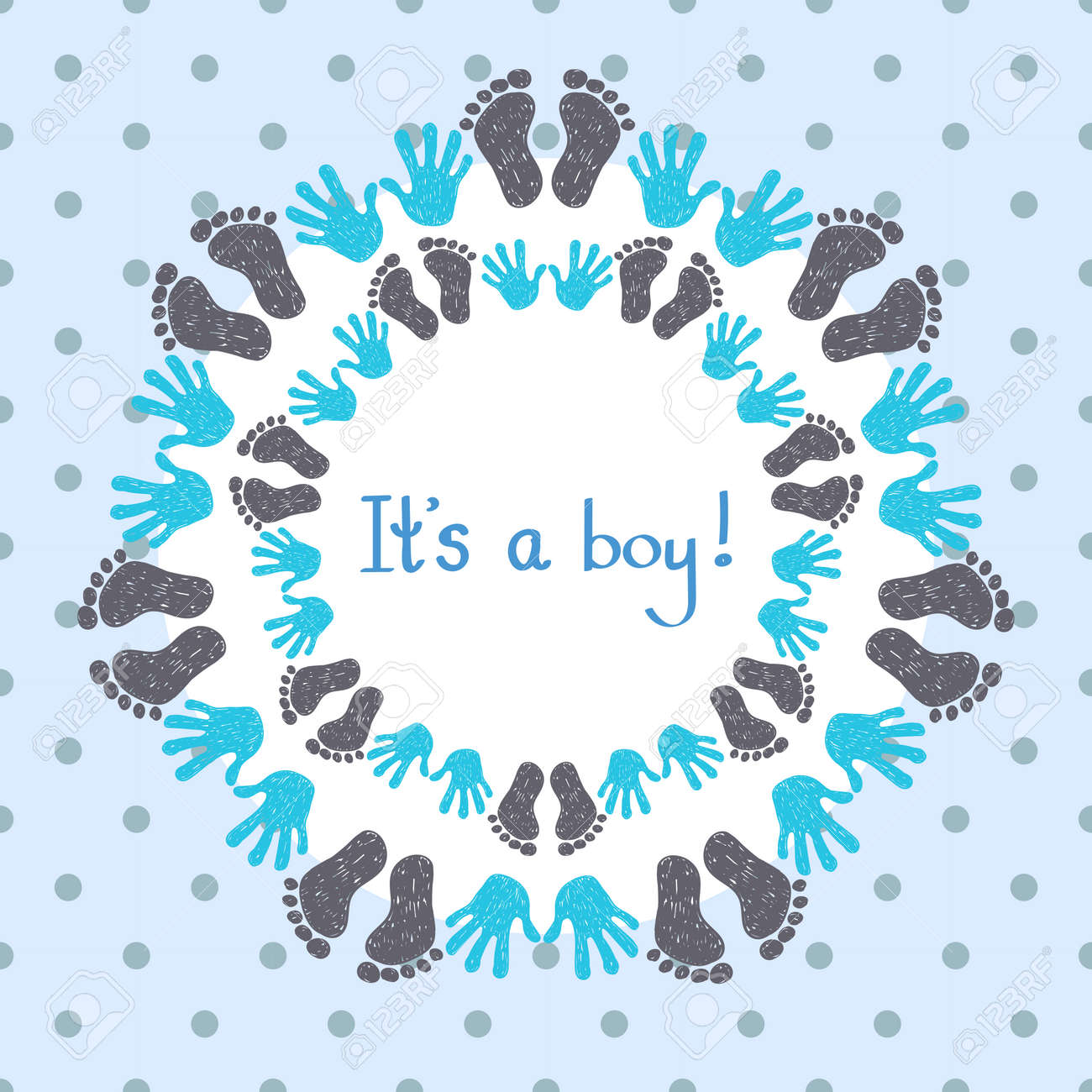 its a boy card template congratulation background royalty free