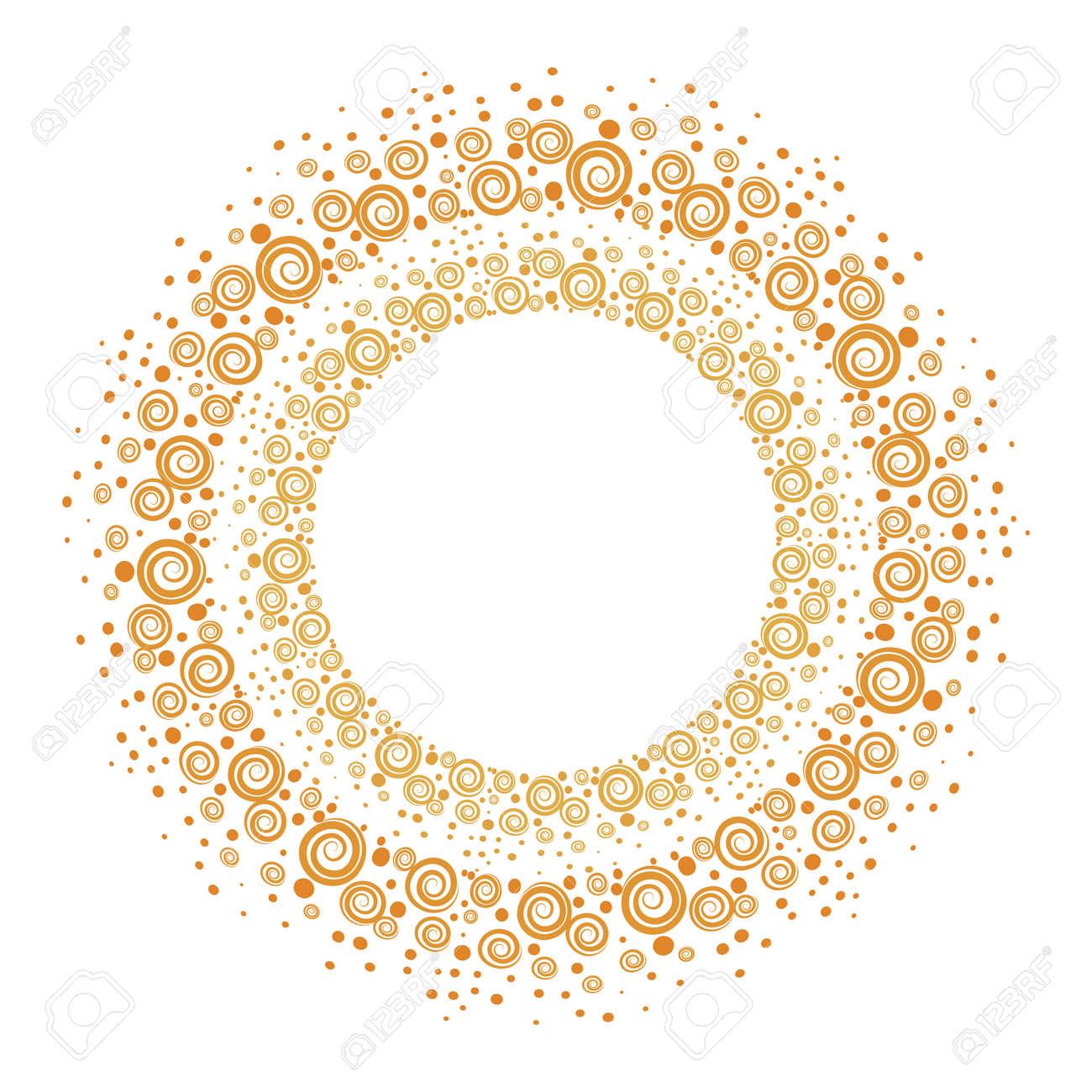 Handgezeichnete Goldrahmen. Runde Dekorative Bordüren Für Ihr Design ...