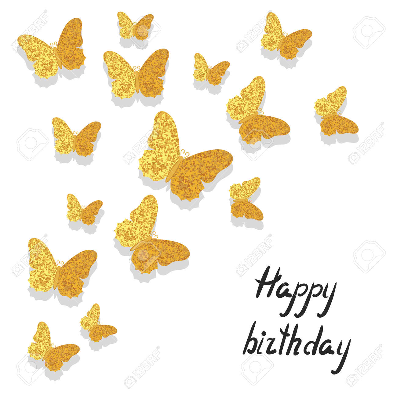 Audacieuse Célébration De Fond Avec Brillant Papillons D'or. Peut être GL-44