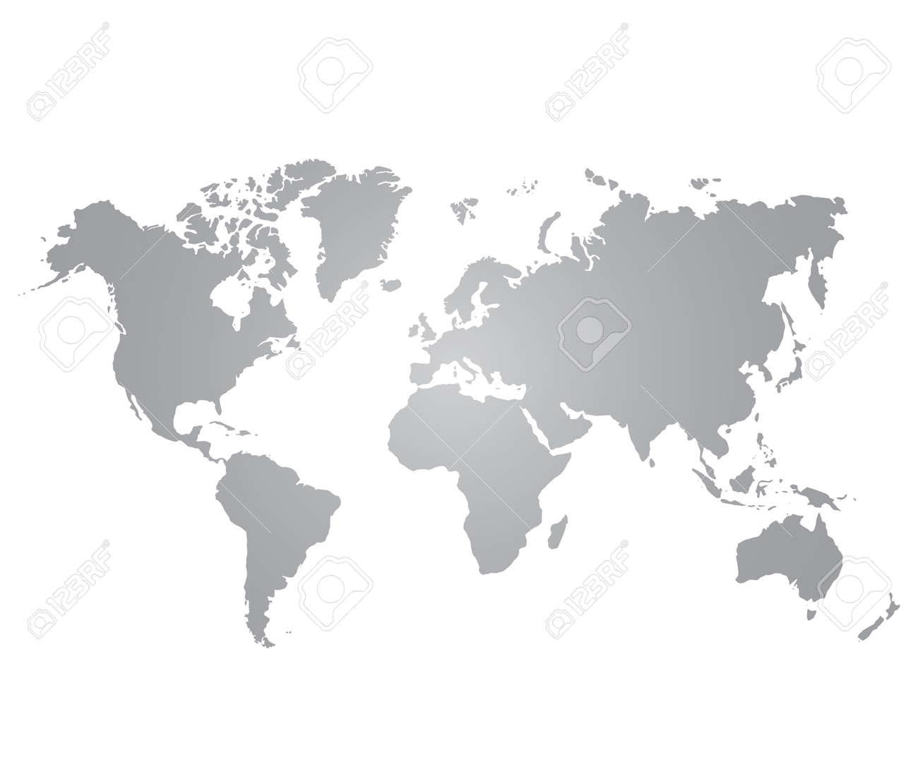 weltkarte grau Graue Weltkarte Auf Weißem Hintergrund Lizenzfrei Nutzbare  weltkarte grau