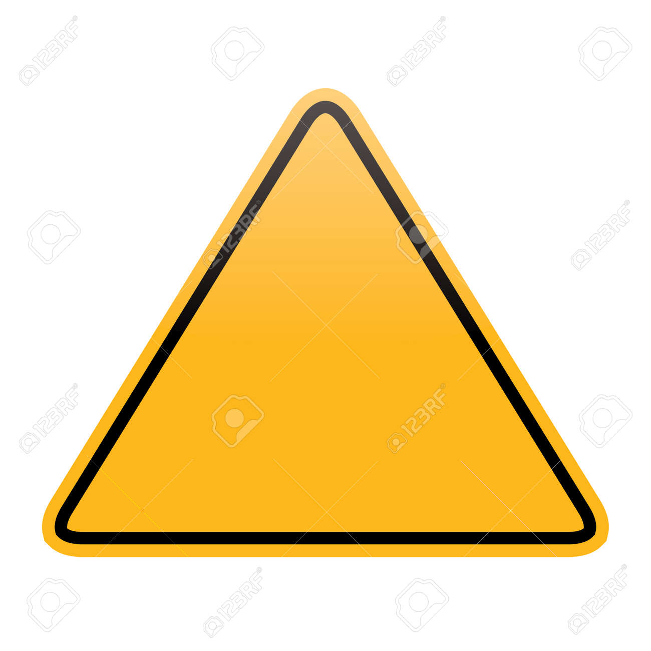 blank yellow warning sign isolated Stock Vector - 20405222
