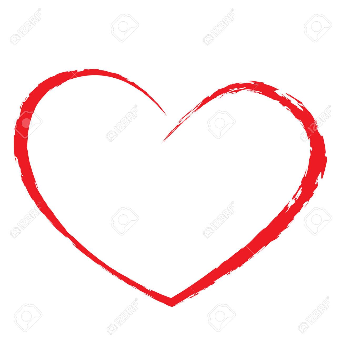 heart drawing Stock Vector - 20405216