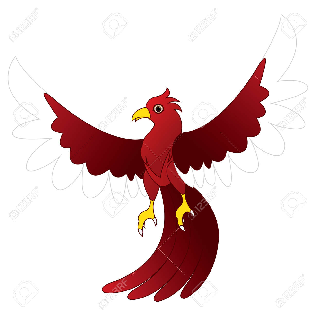 character red bird Stock Vector - 20888143