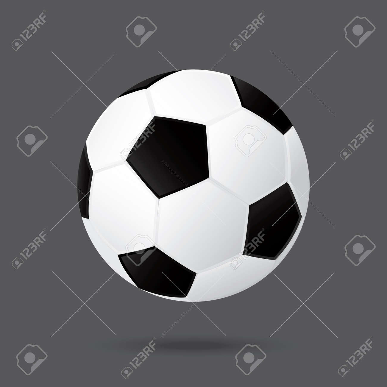 best soccer football illusion isolated background Stock Vector - 21759695