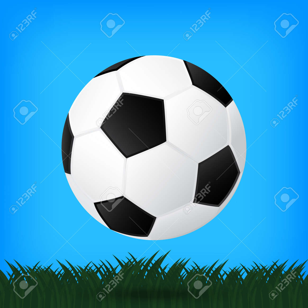 best soccer football illusion isolated background Stock Vector - 21759697