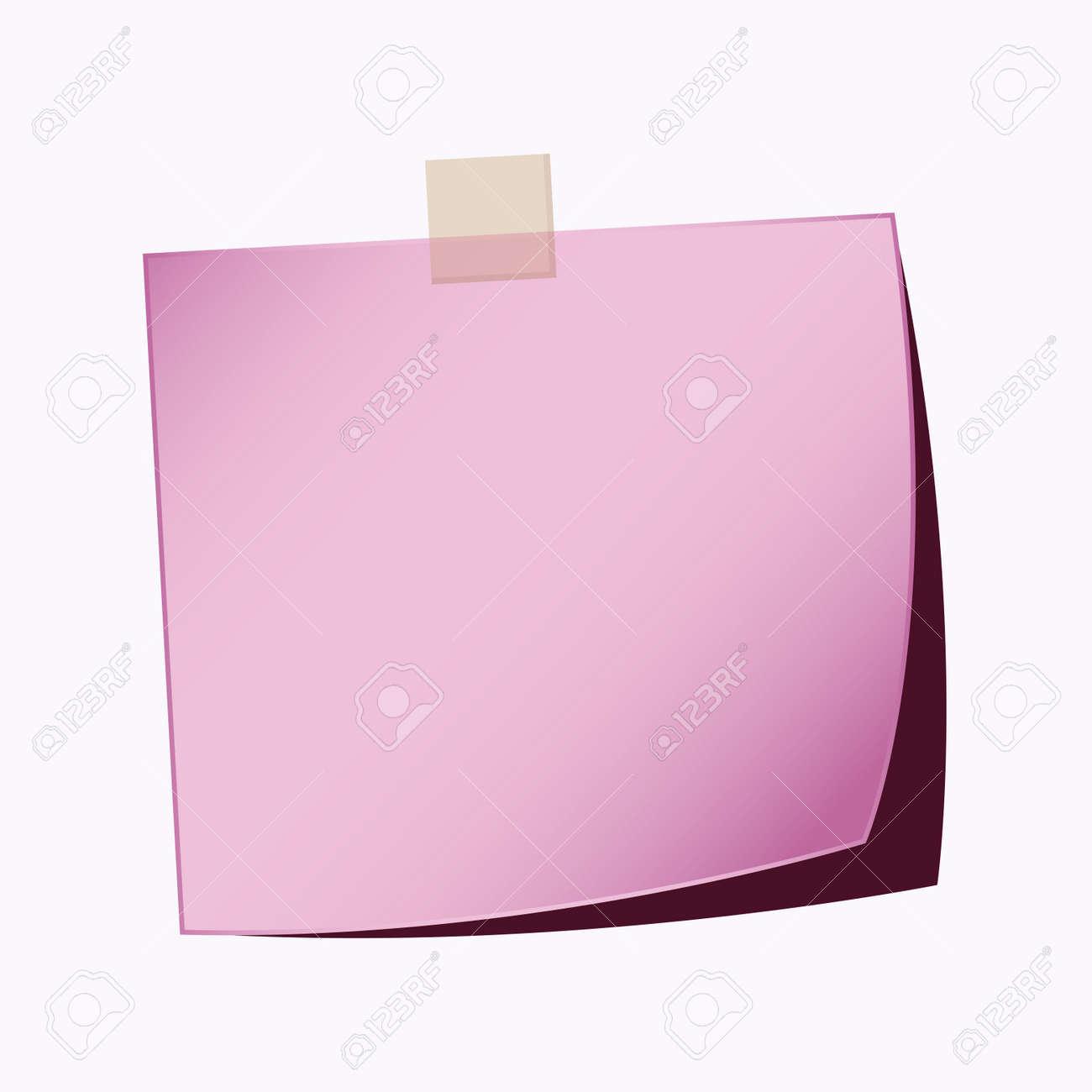 paper note purple color Stock Vector - 21759743