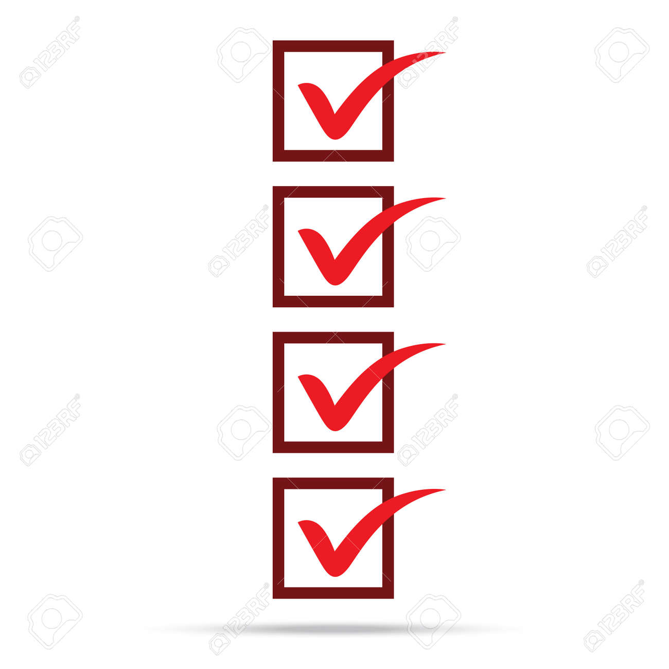Popular Check List Symbol Right Mark Isolated Vector Royalty Free