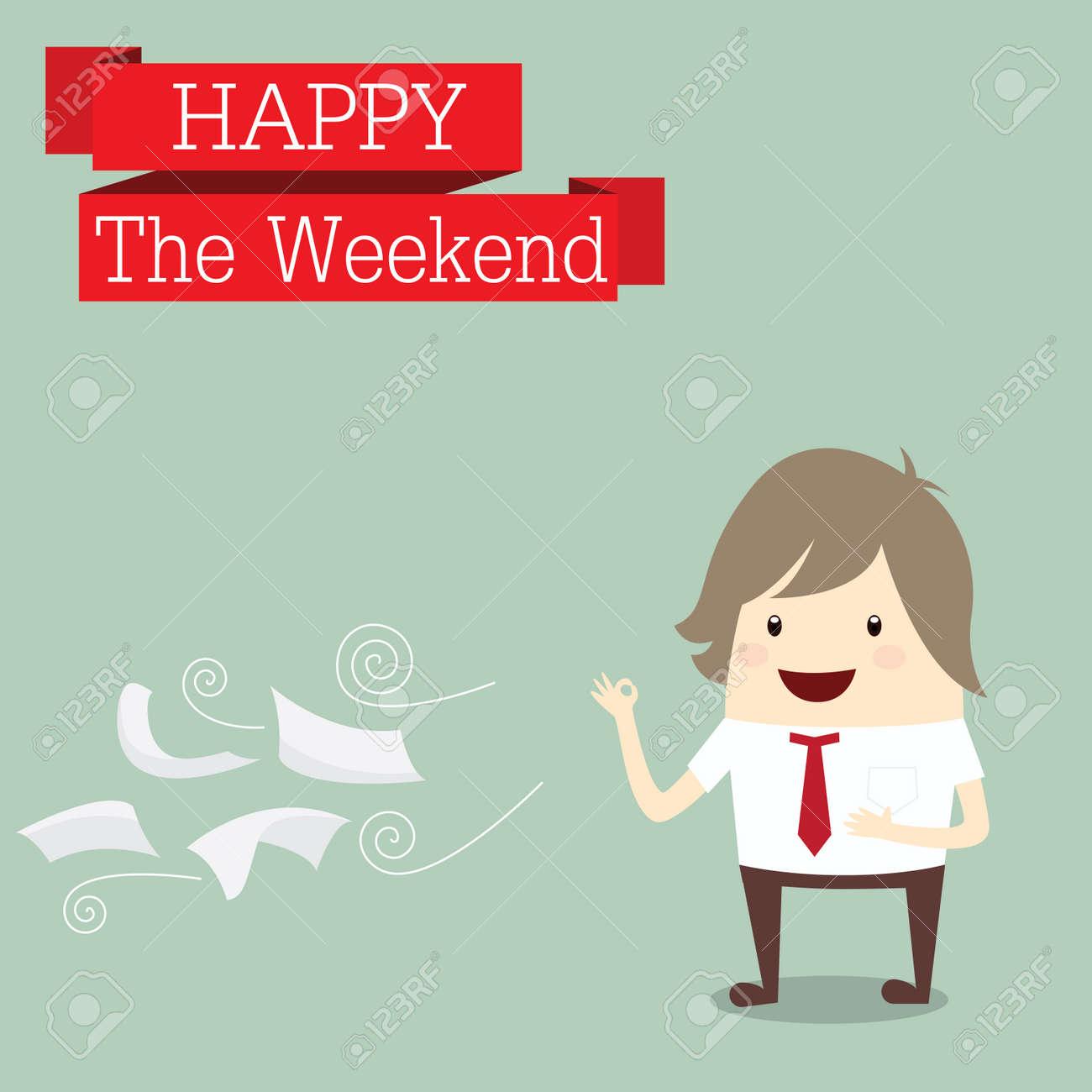100% authentique af72b e18db Homme d'affaires est heureux le week-end détente après le travail, concept  d'entreprise