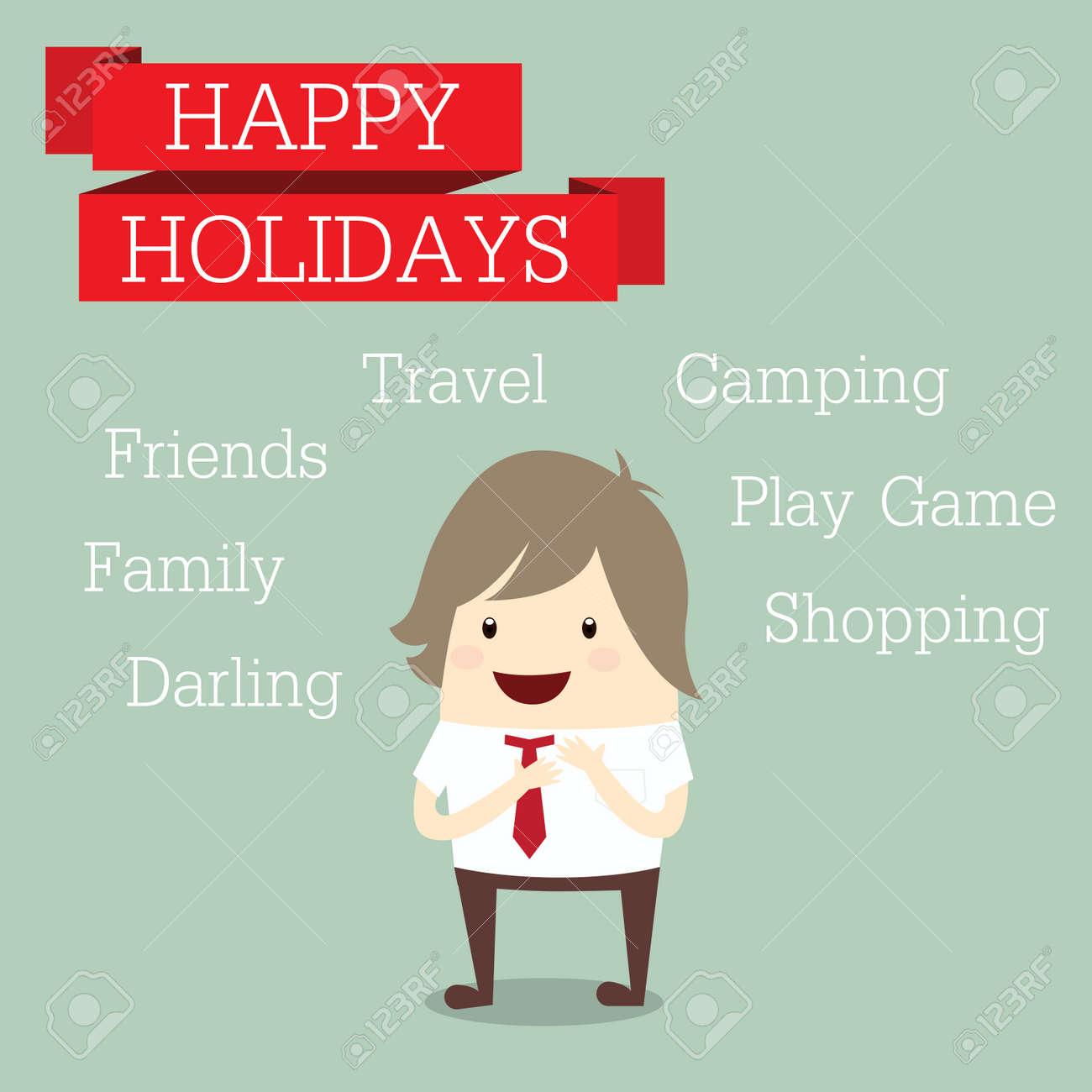 camping happy holiday