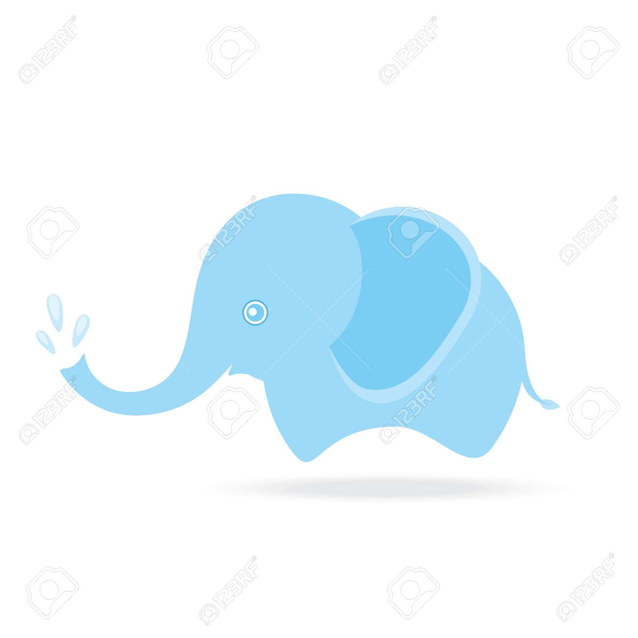 cute elephant spraying water cartoon drawing thailand royalty