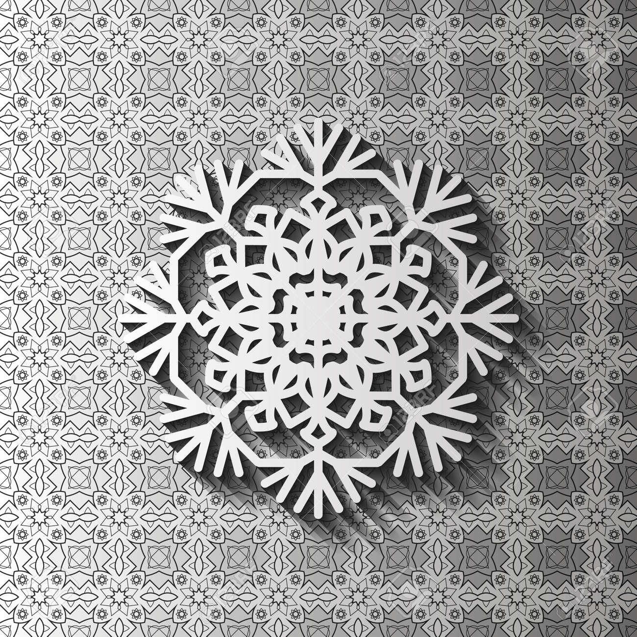 Tapete De Encaje De Papel, Copo De Nieve Decorativo, Ornamento árabe ...
