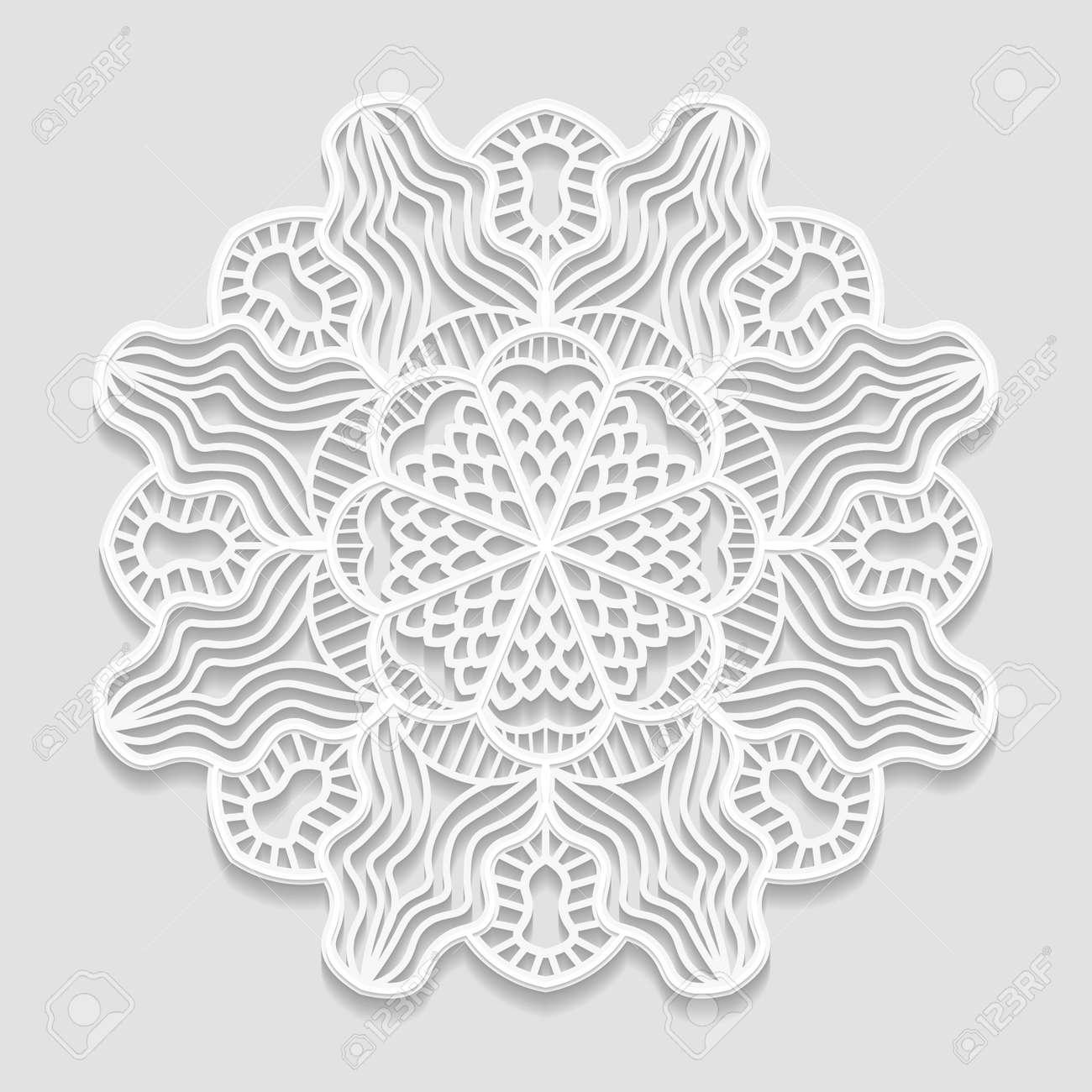 Tapete De Papel De Encaje, Flor Decorativa, Copo De Nieve Decorativo ...
