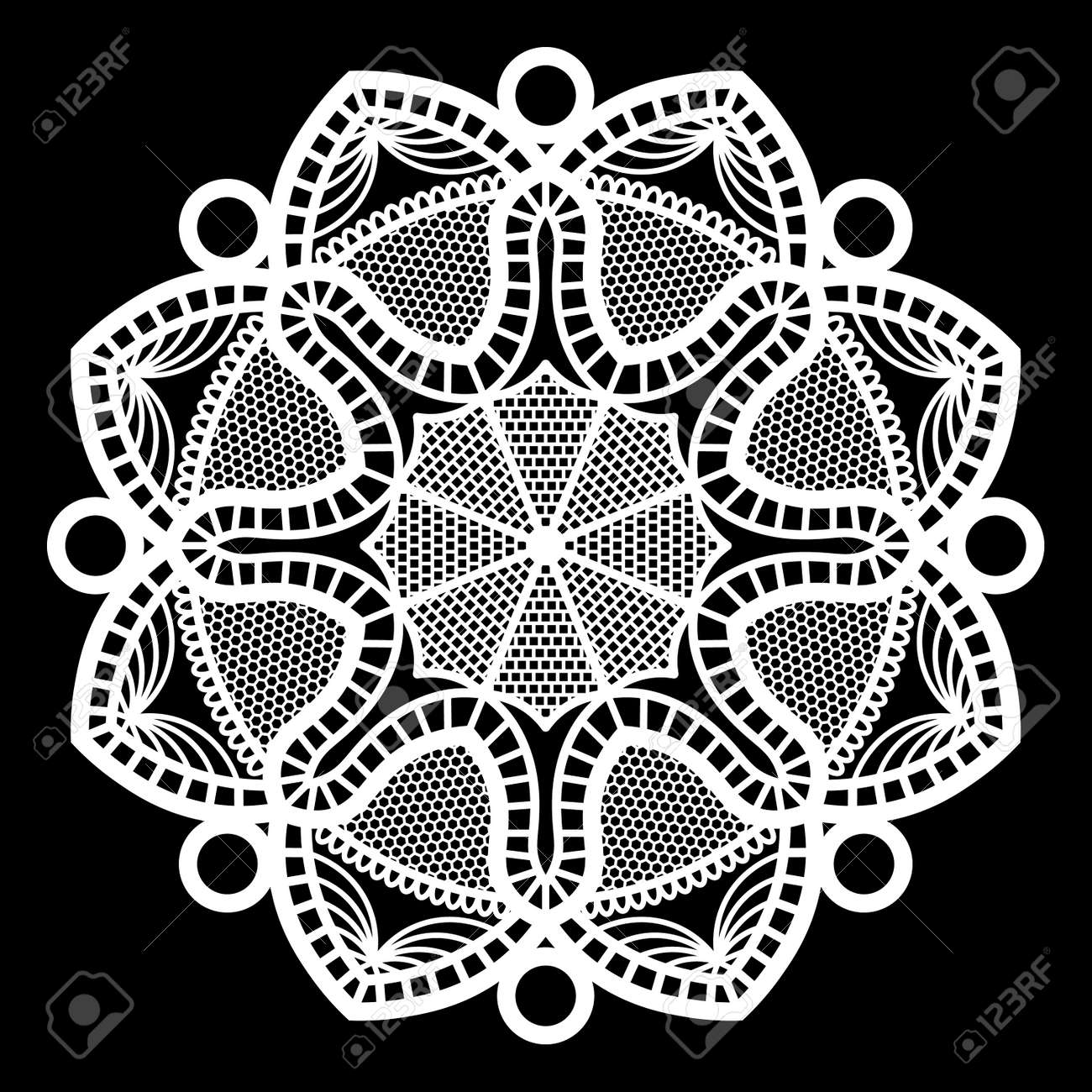 Lace round paper doily doily to decorate the cake doily under the plates  sc 1 st  123RF.com & Lace Round Paper Doily Doily To Decorate The Cake Doily Under ...