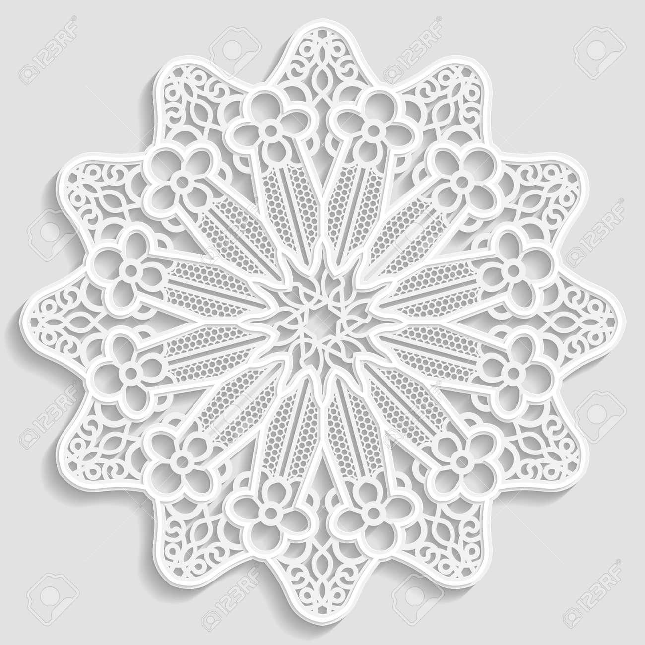 Lacy Pañito De Papel, Flor Decorativa, Copo De Nieve Decorativo ...
