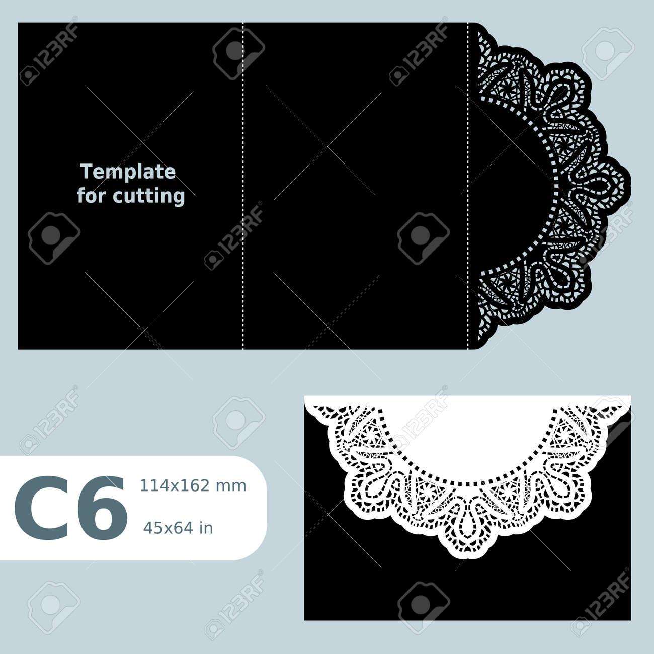 C6 Papier Ajoure Carte De Visite Modele Pour La Coupe Invitation