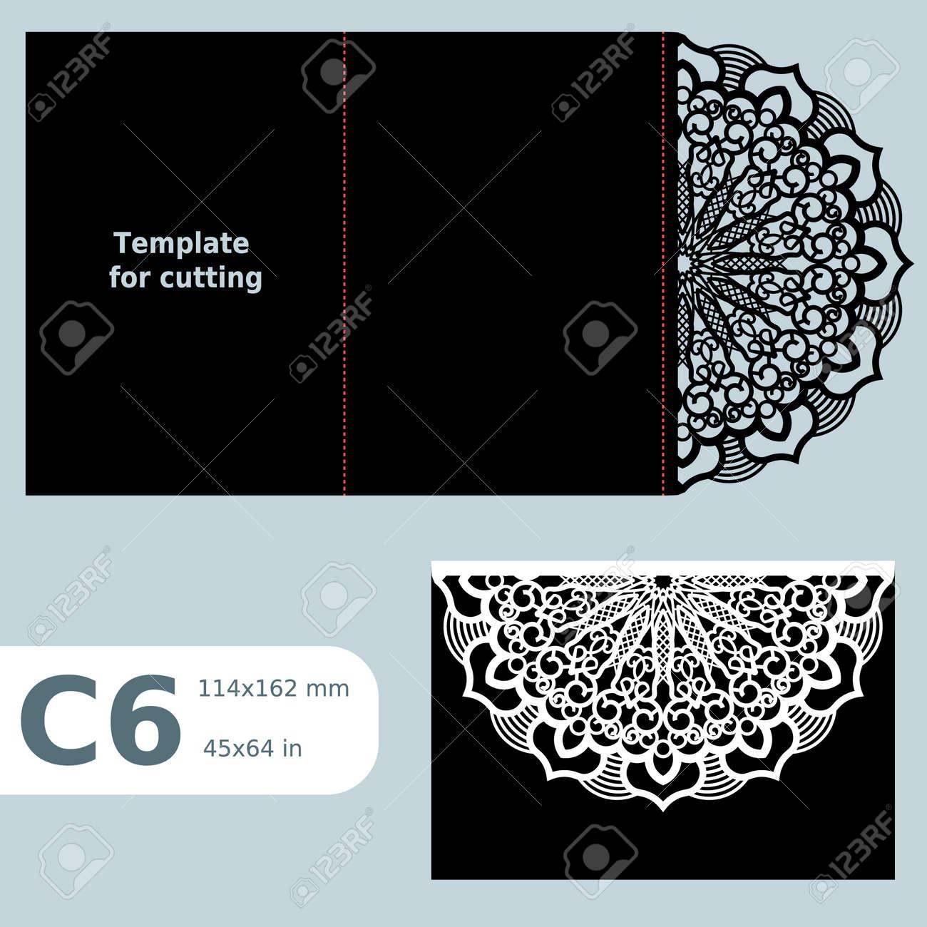 C6 Papier Durchbrochene Grußkarte, Hochzeit, Einladung, Vorlage Für Das  Schneiden, Spitzen Einladung